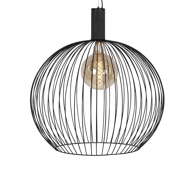 Design hanglamp rond zwart 70 cm - Dos