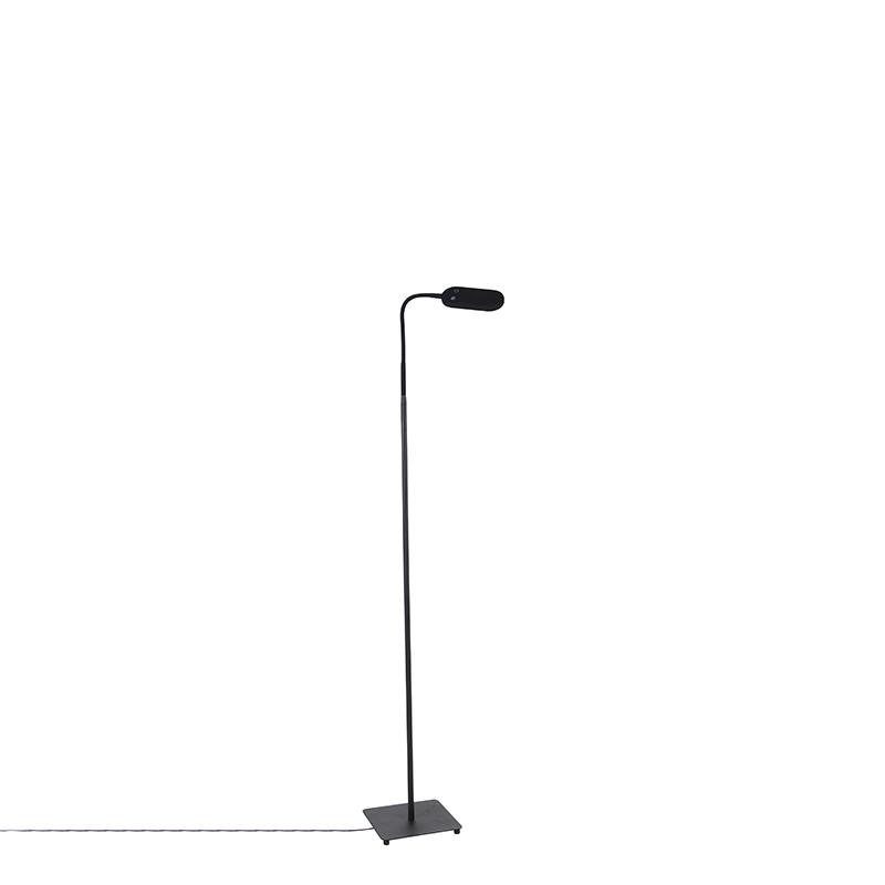 Moderne vloerlamp zwart incl. LED 4-staps dimbaar - Botot