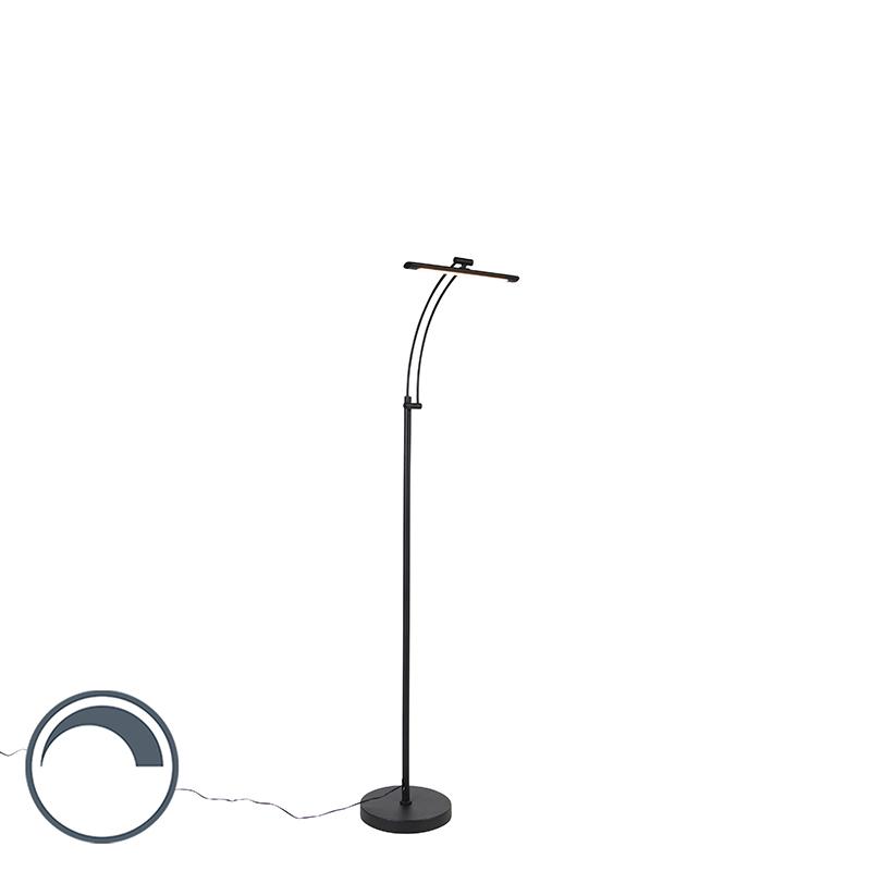 Design vloerlamp zwart incl. LED met dimmer verstelbaar - Tableau