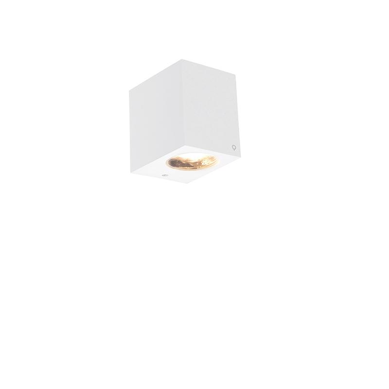 Nowoczesna zewnętrzna lampa ścienna biała IP54 - Baleno I