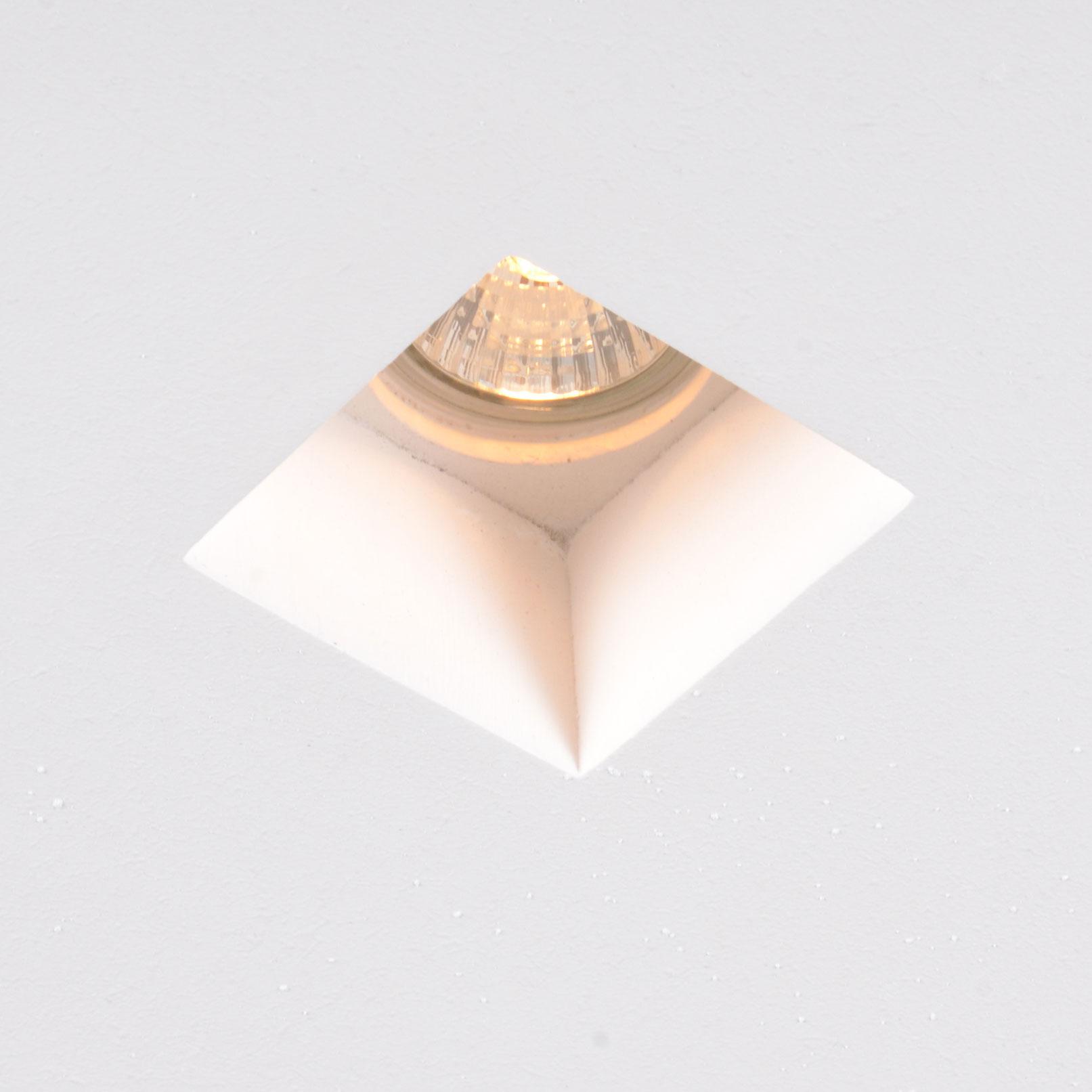 Oprawa do wbudowania kwadratowa biała - Gypsy Stucco