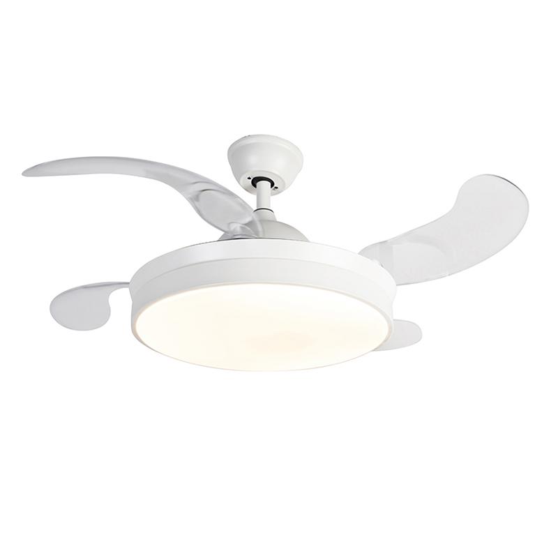 Plafondventilator wit met afstandsbediening incl. LED - Xiro