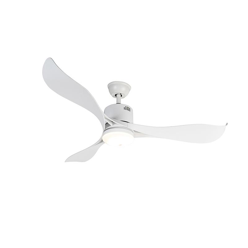 Plafondventilator wit incl. LED en afstandsbediening - Kolm