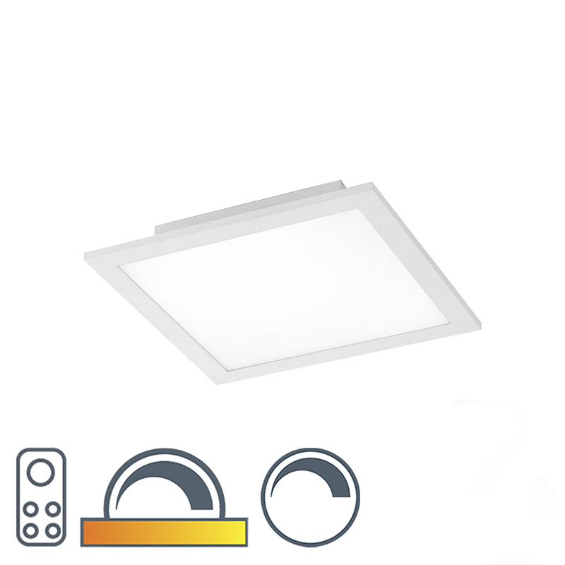 Plafonni�re wit 30 cm incl. LED met afstandsbediening - Orch