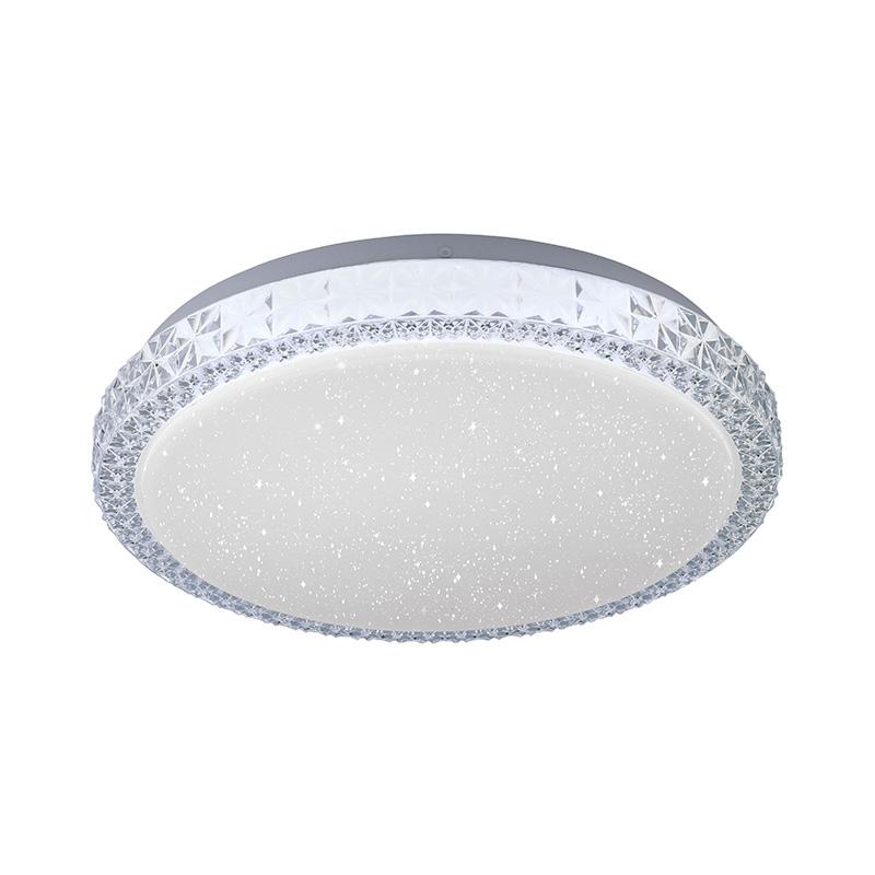 Plafonnière wit 30 cm incl. LED dimbaar met sterrenhemel - Jona