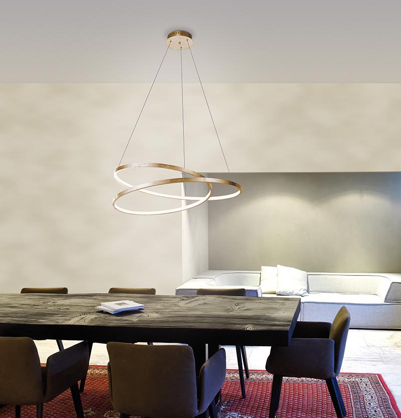 Design hanglamp goud 72 cm incl. LED dimbaar - Rowan