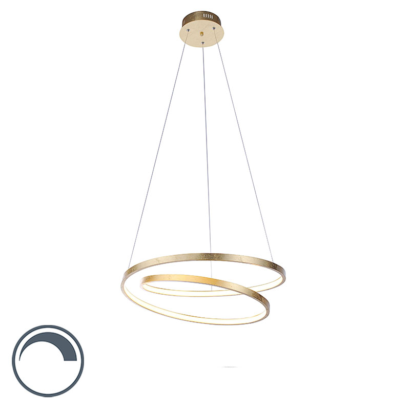 Design hanglamp goud 55 cm incl. LED dimbaar - Rowan