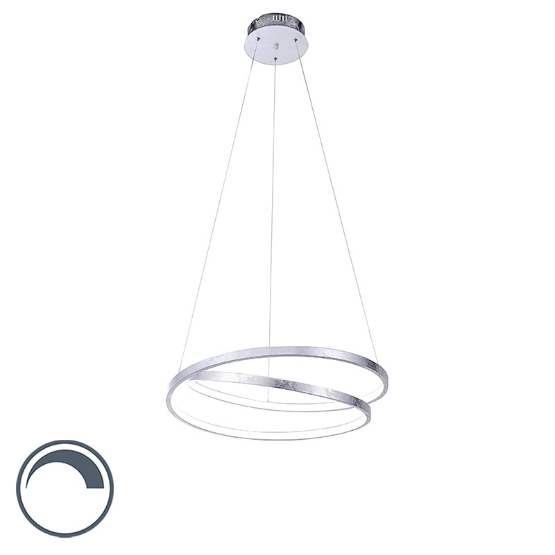 Design hanglamp zilver 55 cm incl. LED dimbaar - Rowan
