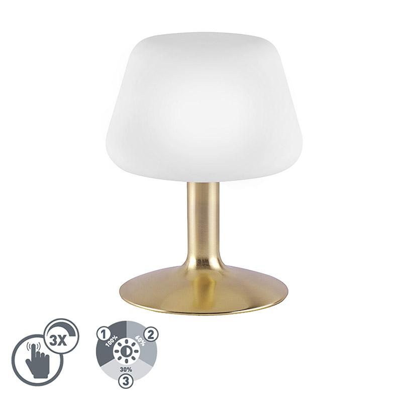 Lampa stołowa złota z 3-stopniowym ściemniaczem dotykowym, w tym LED - Tilly