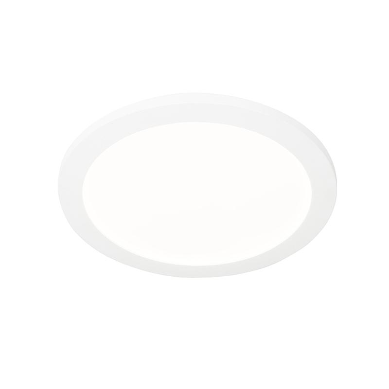 Plafonnière wit 30 cm incl. LED 3-staps dimbaar IP44 - Steve