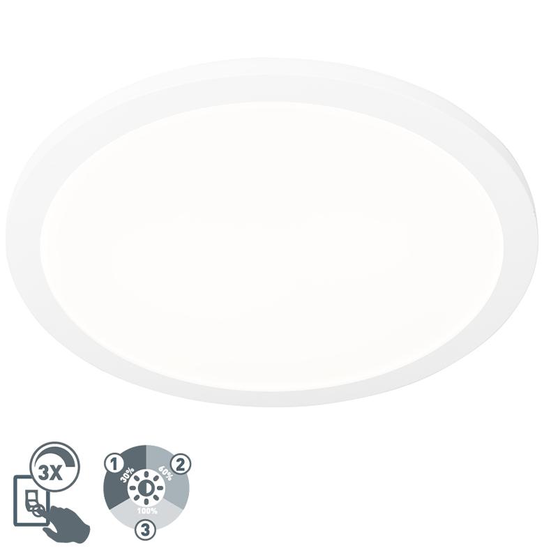 Plafon okrągły biały 40cm IP44 3-stopniowe ściemnianie LED 2700K - Steve