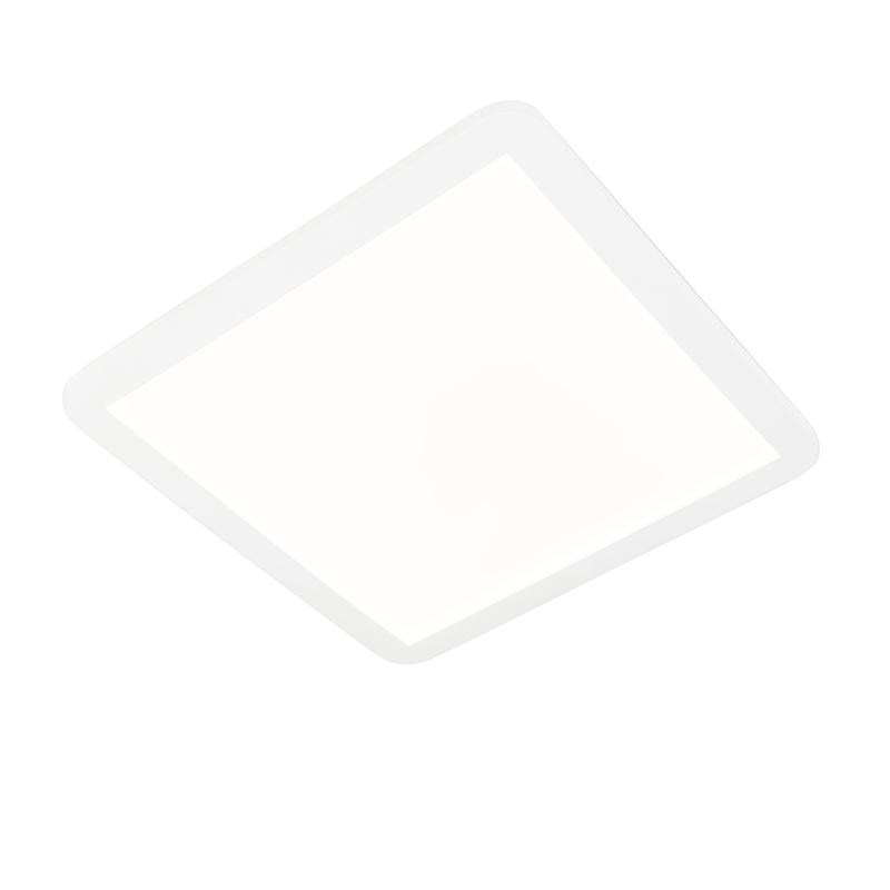 Plafonnière wit 40 cm incl. LED 3-staps dimbaar IP44 - Steve