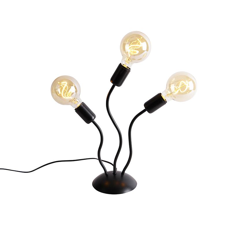 Designerska lampa stołowa czarna 3-punktowa - Wimme