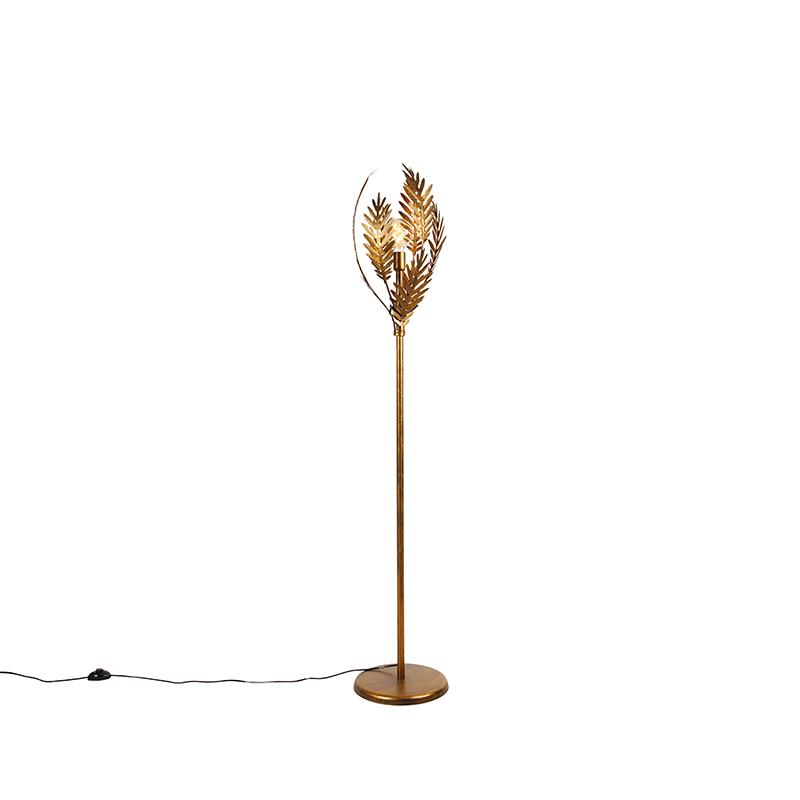 Vintage vloerlamp goud - Botanica
