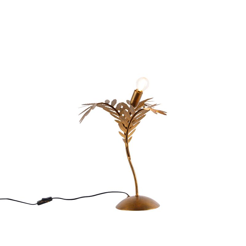 Vintage tafellamp goud 40 cm - Botanica