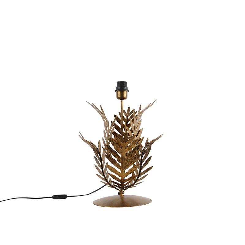 Vintage tafellamp goud zonder kap - Botanica