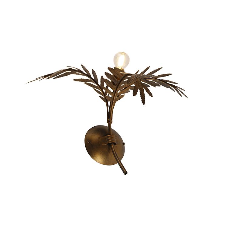 Vintage wandlamp goud 30 cm - Botanica