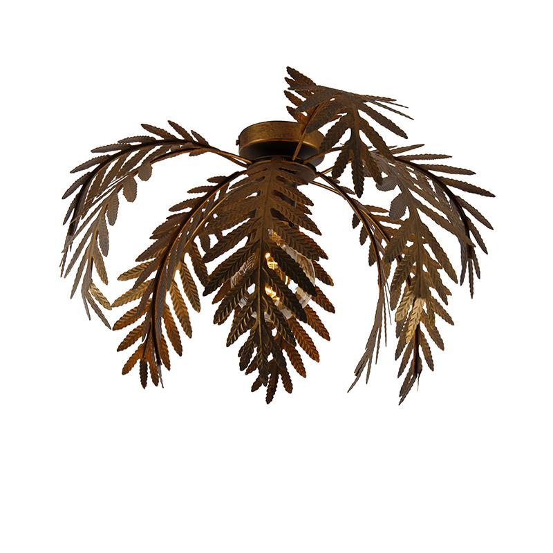Vintage plafondlamp goud 12 bladen - Botanica