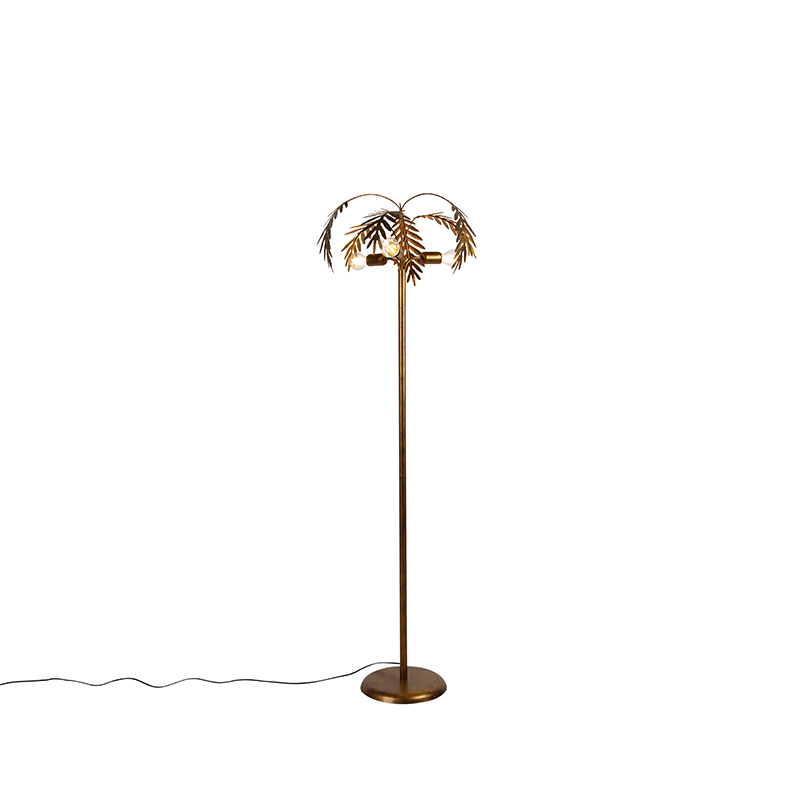 Vintage vloerlamp goud 3-lichts - Botanica