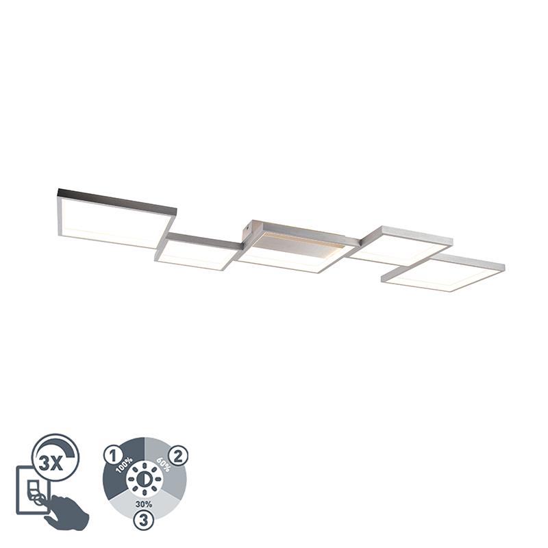 Plafon aluminium 5-źródeł światła LED 3-stopniowe ściemnianie - Lejo