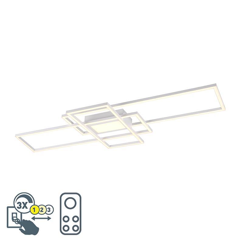 Plafonnière wit incl. LED, afstandsbediening 3 staps dimbaar - Riha