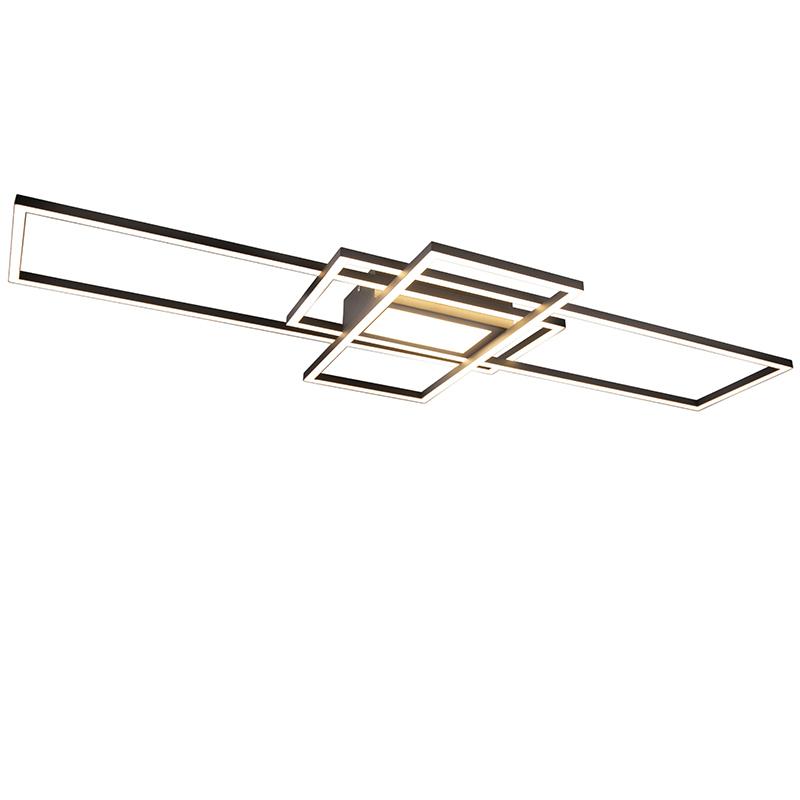 Plafonnière antraciet incl. LED, afstandsbediening - Riha