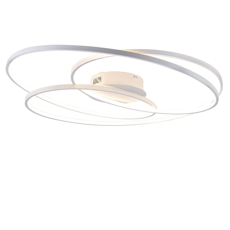 Plafonnière wit 80 cm incl. LED 3-staps dimbaar - Rowin