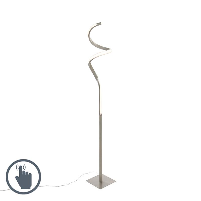 Design vloerlamp staal incl. LED met touch dimmer - Ruta