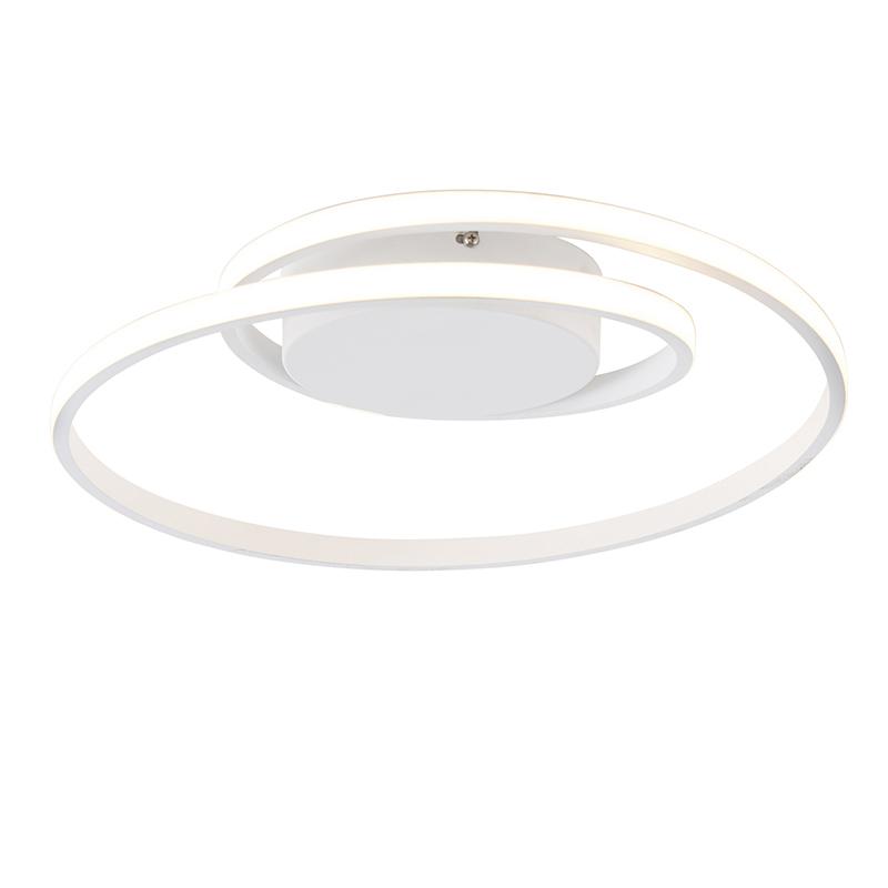 Design plafonnière wit incl. LED 3-staps dimbaar - Krula