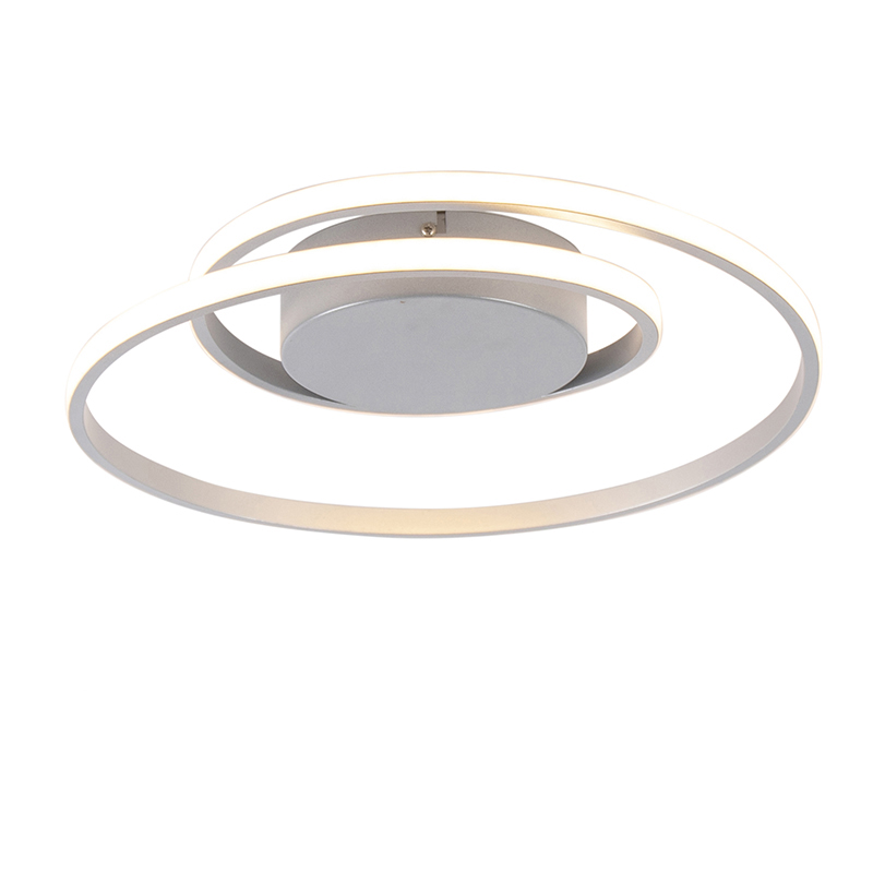 Design plafonnière staal incl. LED 3-staps dimbaar - Krula