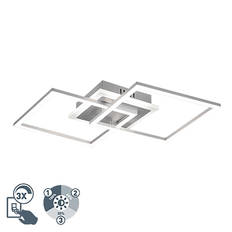 Design plafondlamp staal incl. LED 3-staps dimbaar - Veni