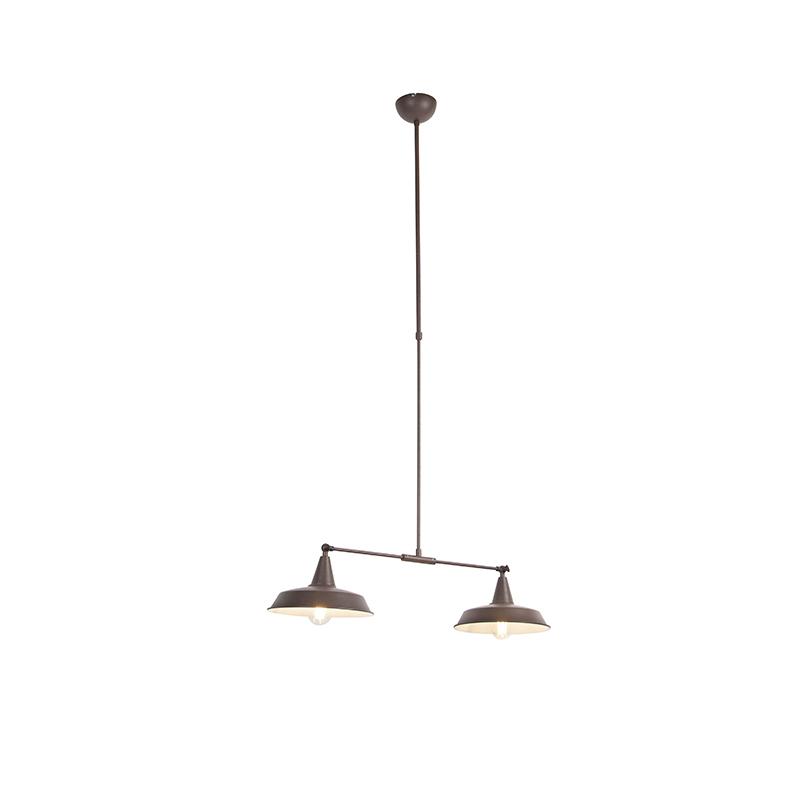 Przemysłowa lampa wisząca brązowa 2-punktowa regulacja - Vici