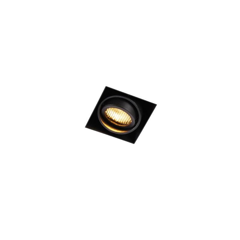 Inbouwspot zwart draai- en kantelbaar Trimless - Oneon Honey