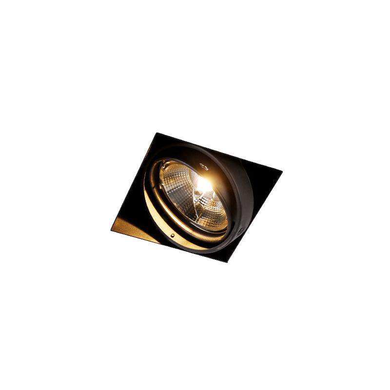 Oprawa wpuszczana czarna 1-punktowa GU10 AR111 Trimless - Oneon