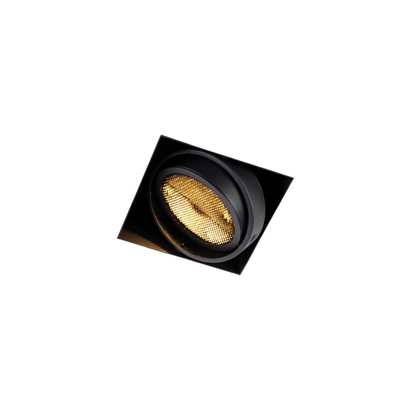 Inbouwspot zwart 1-lichts GU10 AR111 Trimless - Oneon Honey