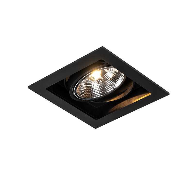 Moderne inbouwspot zwart 18 cm verstelbaar - Artemis 111