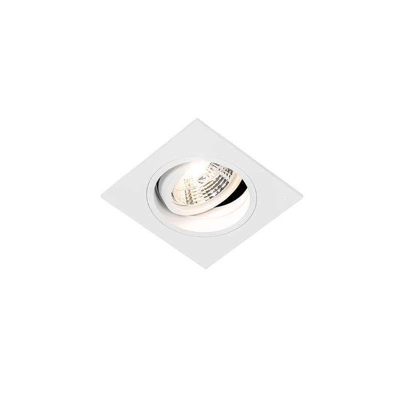 Vierkante inbouwspot wit verstelbaar - Chuck 70