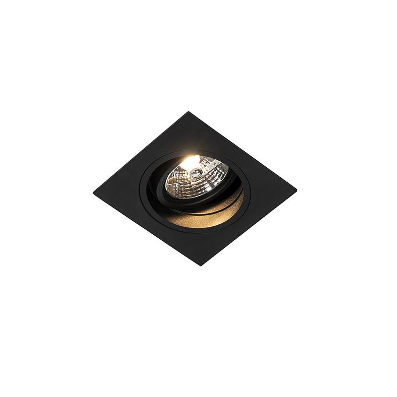 Moderne inbouwspot zwart verstelbaar - Chuck 70