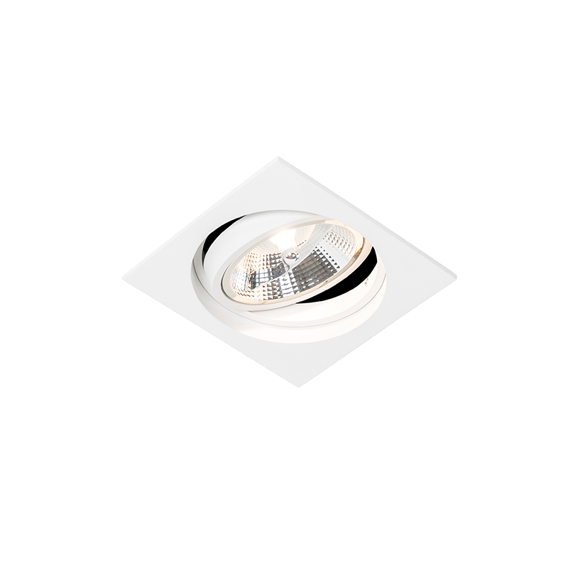 Vierkante inbouwspot wit verstelbaar - Chuck 111