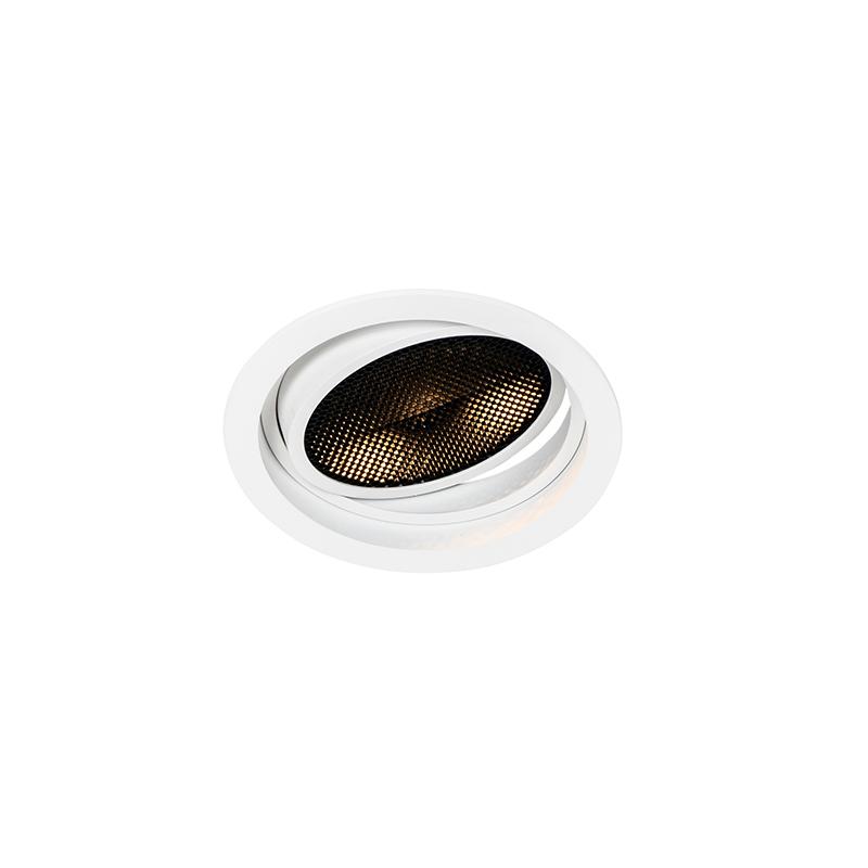 Moderne inbouwspot wit verstelbaar - Coop 111 Honey