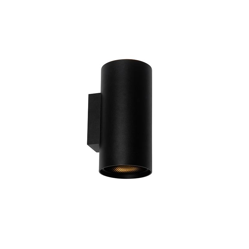 Design ronde wandlamp zwart - Sab Honey