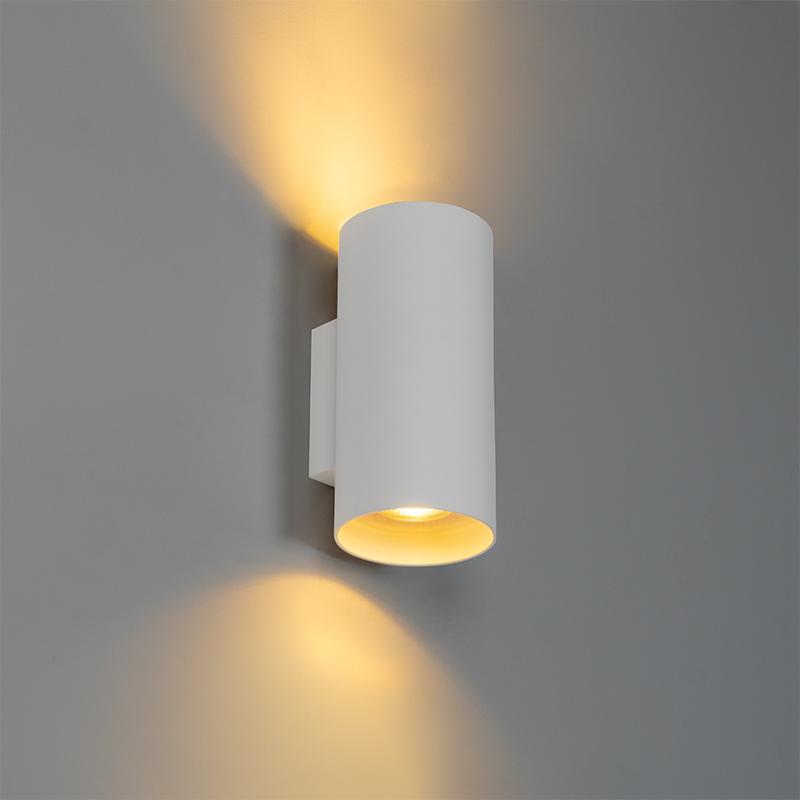 Design wandlamp wit rond - Sab