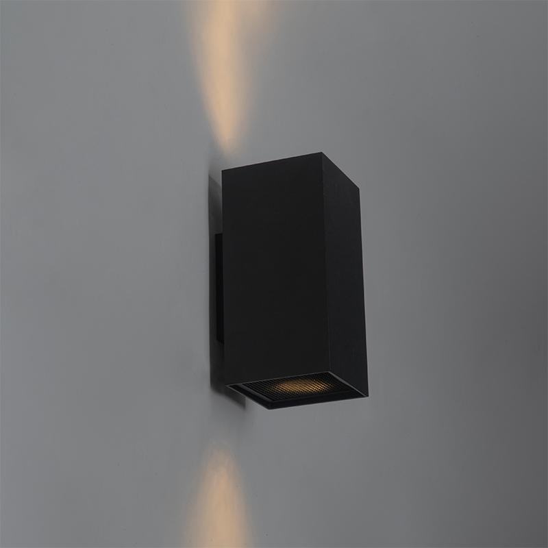 Design vierkante wandlamp zwart - Sab Honey