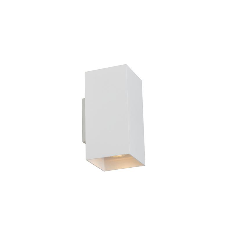 Designerski kinkiet biały kwadrat - Sab