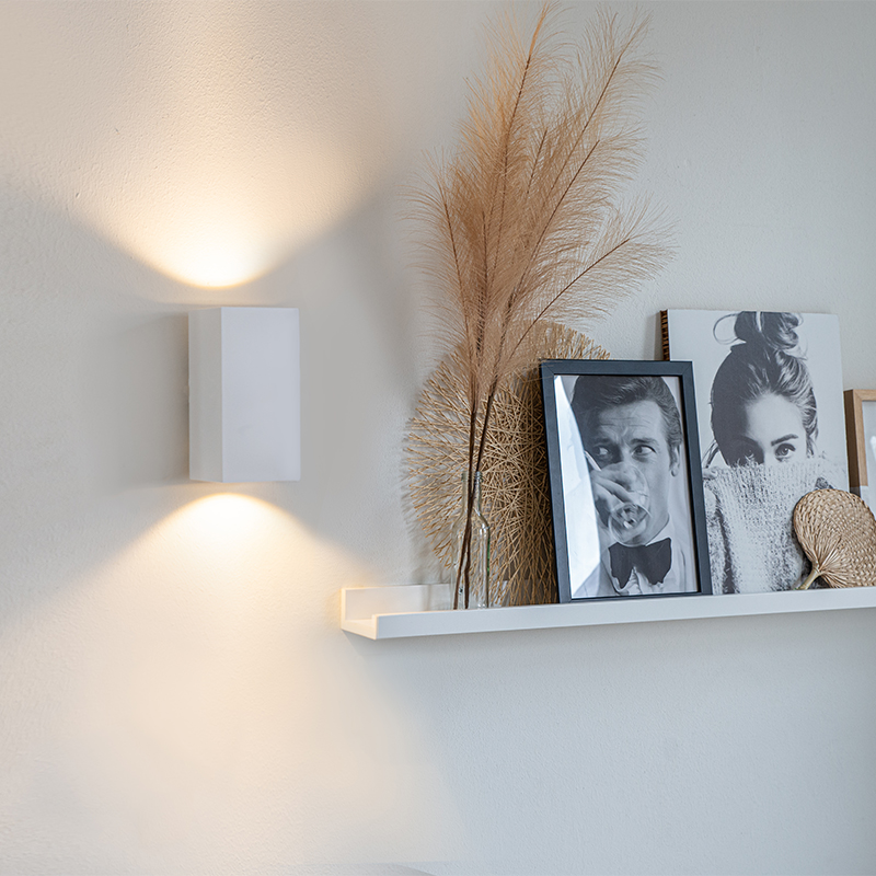 Design wandlamp wit vierkant - Sab