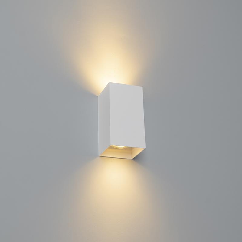 Design vierkante wandlamp wit - Sabbir