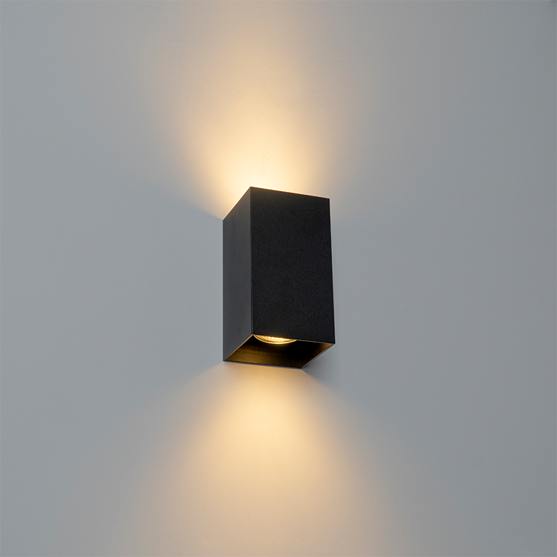 Design wandlamp zwart vierkant - Sabbir