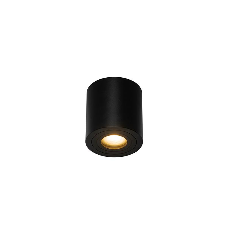 Moderne badkamer spot zwart rond IP44 - Capa