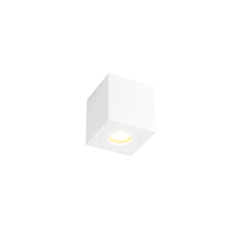 Moderne vierkante badkamer spot wit - Capa