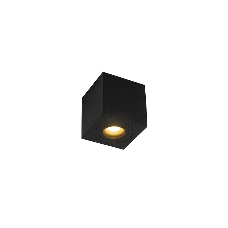 Moderne vierkante badkamer spot zwart - Capa